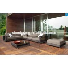 outdoor rattan L shape corner sofa furniture patio wicker sofa sets