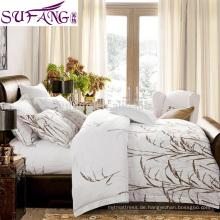 2017 Amazon Hot Sale Luxury Hotel Qualität Baumwolle Streifen 3 stücke Bettwäsche Set