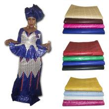 2017 Dernière Mode Jacquard Textile Coton Tricoté Imprimé Tissu Africain Bazin Broderie Conception Robe