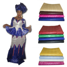 2017 Latest Fashion Jacquard Textile Cotton Knitted Printed Fabric African Bazin Embroidery Design Dress