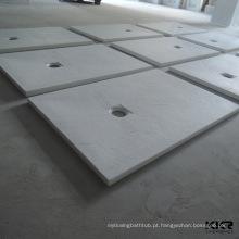 base de chuveiro de resina em poliéster de pedra fundida 70x70