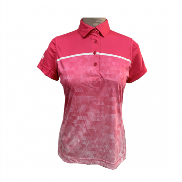 Damen stricken Digitaldruck Polo-Shirt