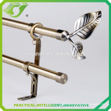 D-S0015 High quality low price leaf curtain finials curtain rod