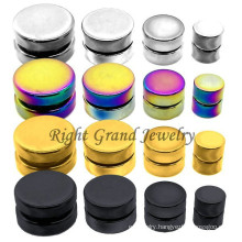10mm Gold Titanium Plated Steel Magnetic Body Piercing