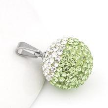 Pendentif en forme de titane en acier 20 mm en diamant