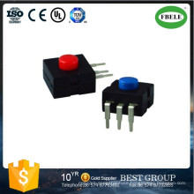 Small Push Button Switch with LED, Mini Push Button Switch, The Flashlight Button Switch a Miner′s Lamp Dedicated Button Switches (ON - OFF)