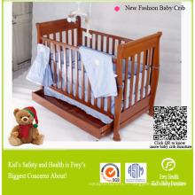 Mobilier bébé en bois massif de lit bébé / lit
