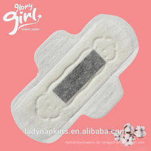 Tageszeit verwenden Sie natürliche reine Baumwolle 245 mm lange negative Ionen Damenbinde