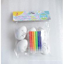 Huevos de pintura plástica jumbo de Pascua de los niños DIY