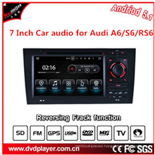 Car Navigtion USB or Android 5.1 Phone Connections for Audi A6 S6 DVD
