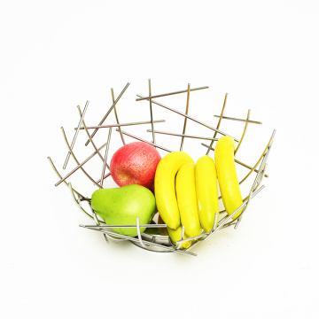Modern Design Kitchen Fruit Storage Basket Counter Top Fruit Basket Bowl Stainless Steel Wire Fruit Basket