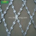 Kaki Berputar Concertina Fencing Hot Dipped Wire