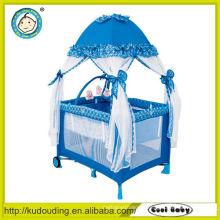 Confortável, 100%, poliéster, bebê, playpen, mosquiteiro