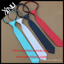 Perfekte Hals Knoten elastische Reißverschluss Polyester Mens Short Krawatten