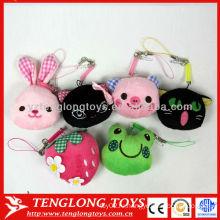 Горячий способ продажи в студенческих маленьких прекрасный животных игрушки телефон чистых