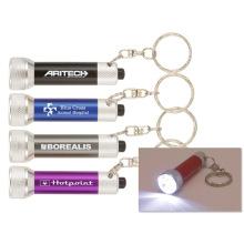 Lumières blanches de Keychain de lumière en métal pour des cadeaux de promotion de compagnie