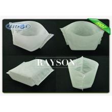 Poids personnalisé blanc couleur 30g / m2 non tissé arbre et sac de plantes, sac de pépinière