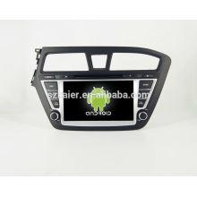 ¡CALIENTE! DVD del coche con enlace espejo / DVR / TPMS / OBD2 para pantalla táctil de 8 pulgadas con cuatro núcleos 4.4 Sistema Android Hyundai I20