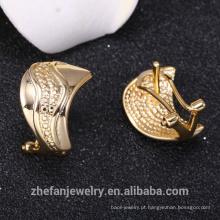 Jóias no exterior alta qualidade saudita 14 k brinco de jóias de ouro