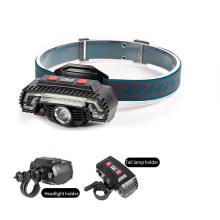 Outdoor Bicycle Light USB Rechargeable LED Headlamp, Multifunction Led Headlights Bike Light with Motion Sensor