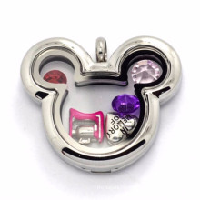 Wholesale mickey mouse floating charms lockets jewelry