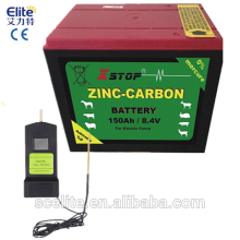 Rechargeable battery for electric fence energizer