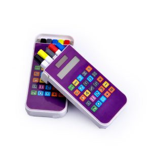 8 chiffres Touch Screen Keys Calculator with Pen Holder