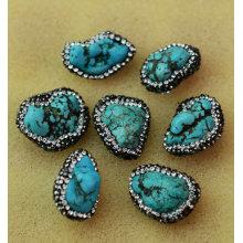 Accessoire bijoux en perles de perles turquoise à la mode