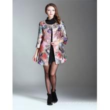 Custom Made Hot Sale Pink Beading Crystal 2017 Mulheres bordadas atacado Long Trench Coat