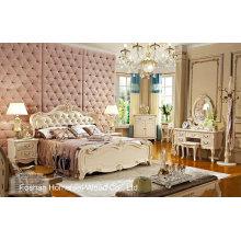 Nouvelle conception classique de mobilier de chambre à coucher royale (HF-MG818)