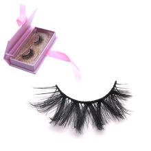 DL101 Hitomi eyelash packaging box custom logo excellent individual silk eyelash double layer private label 25mm silk eyelashes