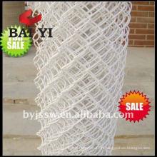 Clôture de lien de chaîne enduite de vinyle blanc à vendre