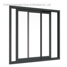 Ventana de vidrio corrediza con marco de aluminio para construcción (FT-W132)
