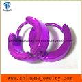 Edelstahl klassische Art-Schmucksache-purpurrote Ohrringe