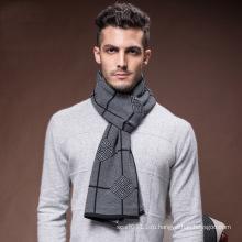Мужская мода шерсть полиэстер нейлон акриловые тканые шарф зимы (YKY4620)