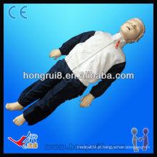 Manequim de CPR para crianças avançadas ISO, manequim de treinamento de primeiros socorros