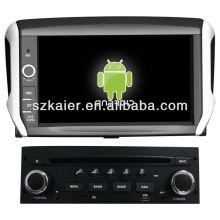 Lecteur DVD de voiture pour Android système Peugeot 208