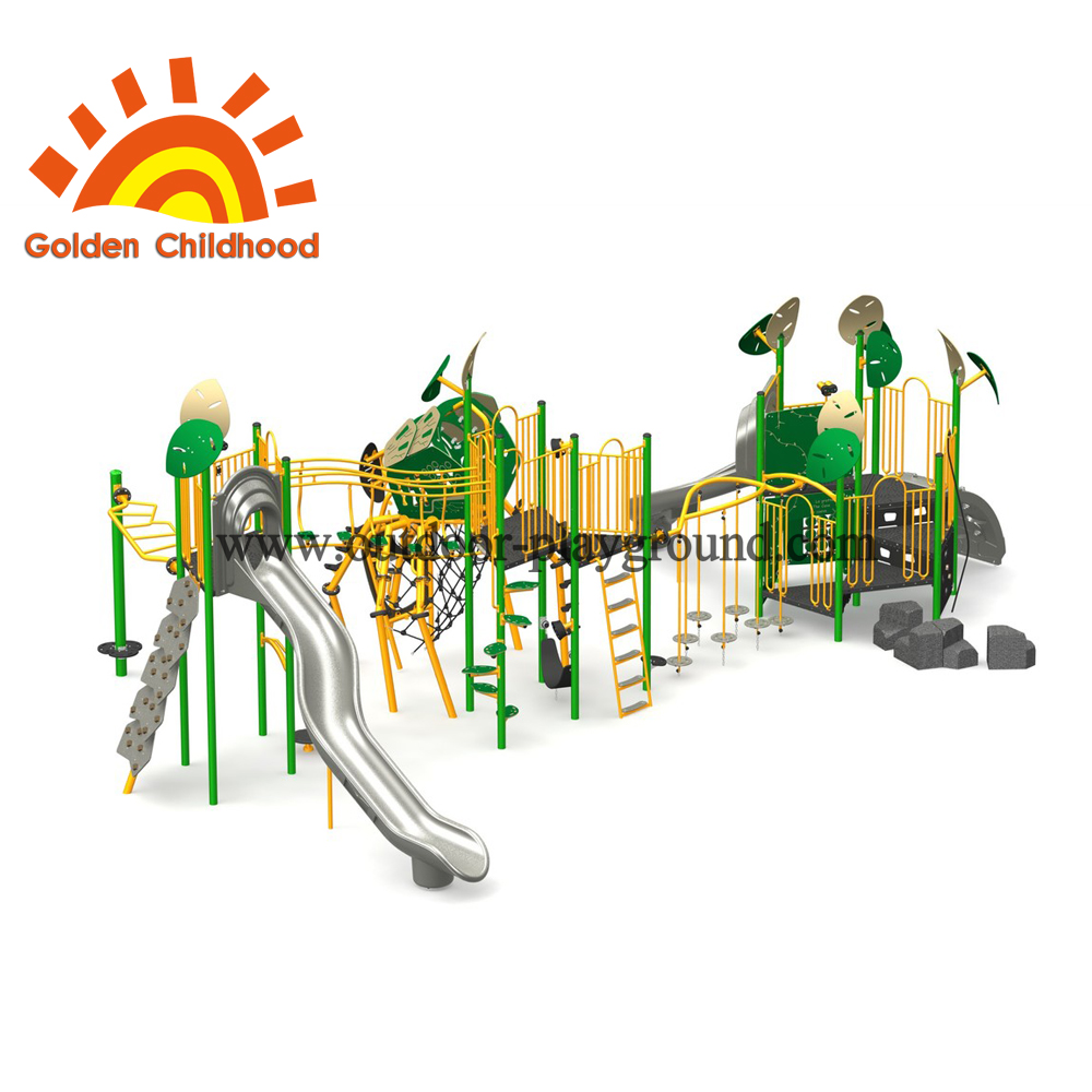 Outdoor Natural Forest Playground Combination