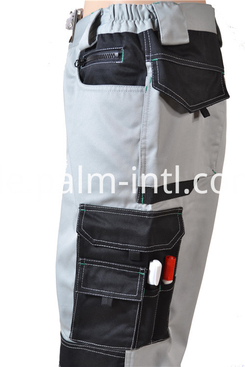 Gray/Black Polyester Cotton Working Clothes
