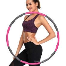 2021 New Hot Amazon Sport Smart Plastic Weighted Hoola Hoops Fitness Hula Hoop