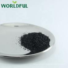 leonardita refinado humato de potasio escama negra brillante, K fertilizante de escamas húmicas