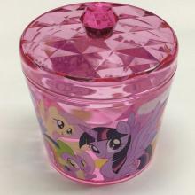 Plastic round storage box with lid