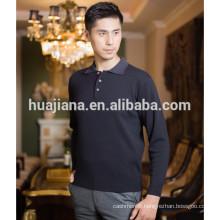 basic design men's cashmere polo sweater