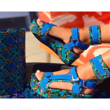 2020 Factory Wholesale Custom Sankeskin Eco Pu Material Womens Sandals  Pump Shoe