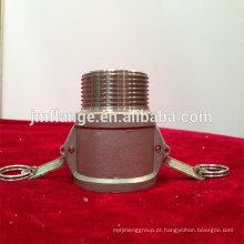 Aço inoxidável 304 / 316l acoplador B macho