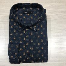 Männliches Oxford-Langarmhemd aus 100% Baumwolle