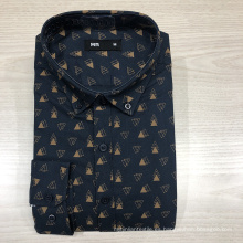 Camisa Oxford de manga larga 100% algodón para hombre