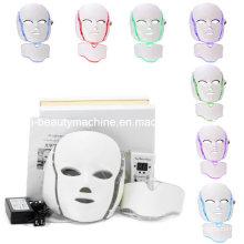 7 цветов СИД фотона pdt СИД системы маска для лица и шеи умный светодиодный свет терапия маска для антивозрастная маска красоты