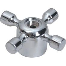 Poignée de robinet en plastique ABS avec finition chromée (JY-3069)