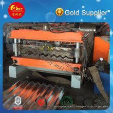 Export Standard Galvanized Steel Tile Roof Sheet Roll Forming Machine